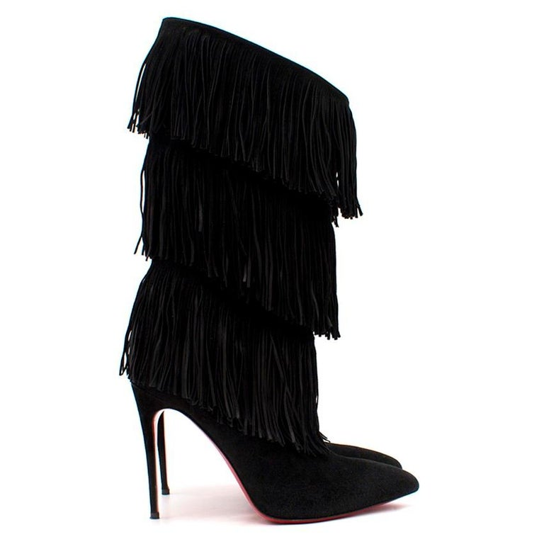 competitive price b88c0 0561a Christian Louboutin Black Tassel Boots US 7.5