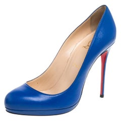 Christian Louboutin Blue Leather Bianca Pumps Size 40