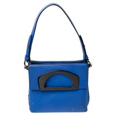 Christian Louboutin Blue Leather Mini Passage Top Handle Bag
