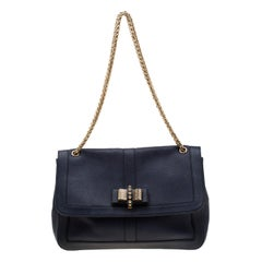 Christian Louboutin Blue Leather Sweet Charity Bag
