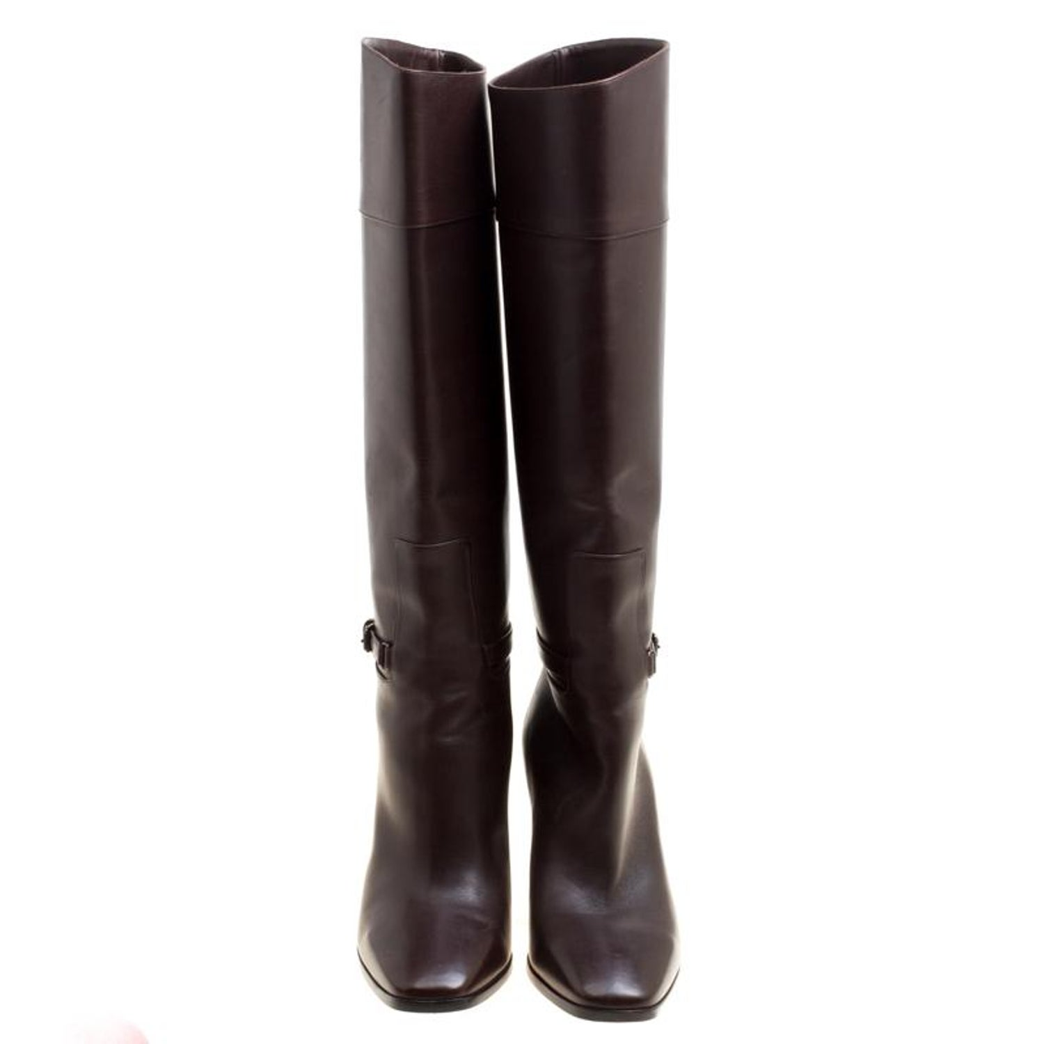 c2567c8ad7d3 Christian Louboutin Brown Leather Mervillon Knee Boots Size 38 For Sale at  1stdibs