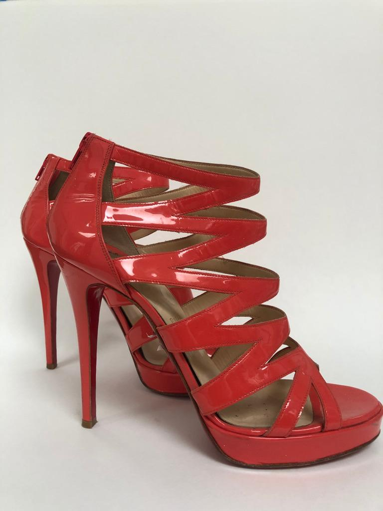 Ankle high cage bootie with stiletto heel