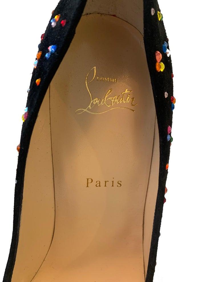 Women's Christian Louboutin Crystal Clair De Lune Pigalle Follies 120 Pumps sz 39.5 For Sale