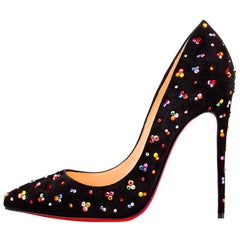 Christian Louboutin Crystal Clair De Lune Pigalle Follies 120 Pumps sz 39.5