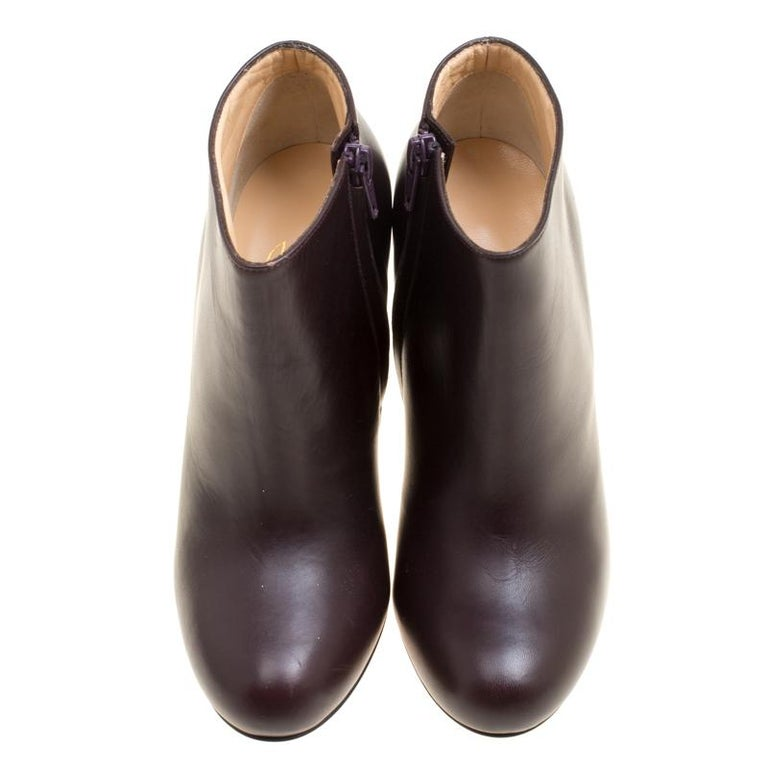 los angeles 4655a 8bf46 Christian Louboutin Dark Brown Leather Belle Ankle Boots Size 37