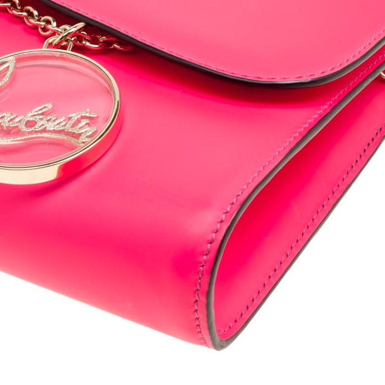 7c85d0541d Christian Louboutin Fluorescent Pink Leather Riviera Clutch For Sale ...
