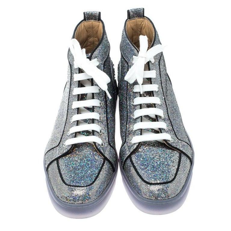brand new f9e58 2fc20 Christian Louboutin Glitter Disco Ball Rantus Orlato High Top Sneakers Size  42.5
