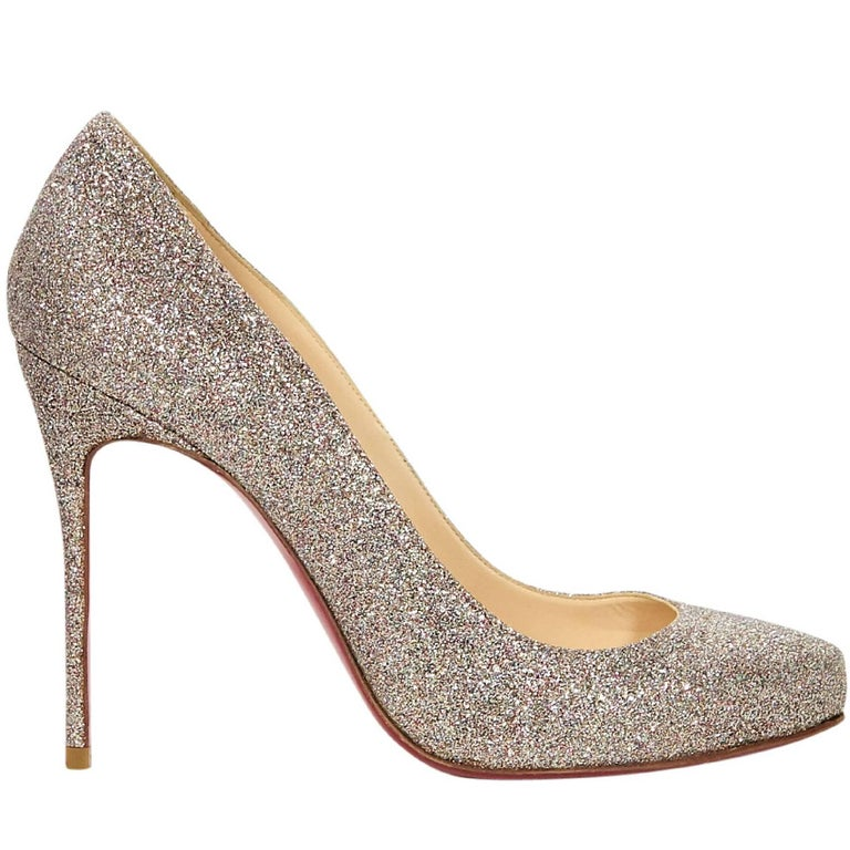 Christian Louboutin Gold Glitter Pumps For Sale at 1stdibs dc3a87ac9b07