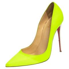 Christian Louboutin Green/White Leather So Kate Pumps Size 40.5