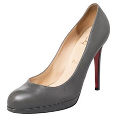 Christian Louboutin Grey Leather New Simple Pumps Size 39