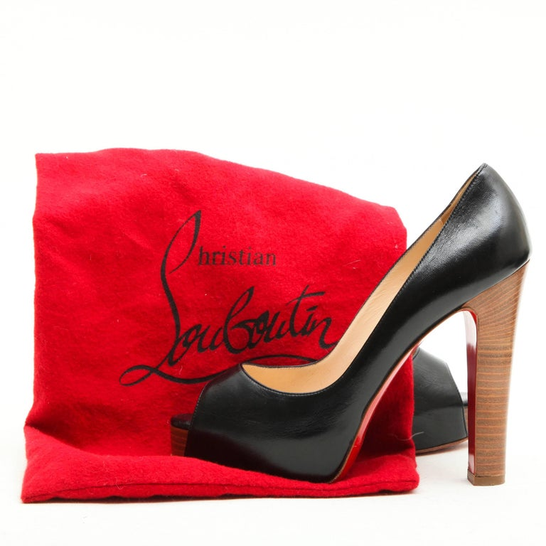 CHRISTIAN LOUBOUTIN High Heels Sandals in Black Lambskin Size 38FR For Sale 2