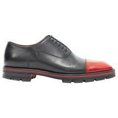 CHRISTIAN LOUBOUTIN Hubertus red toe rubber lug sole oxford shoes EU41.5