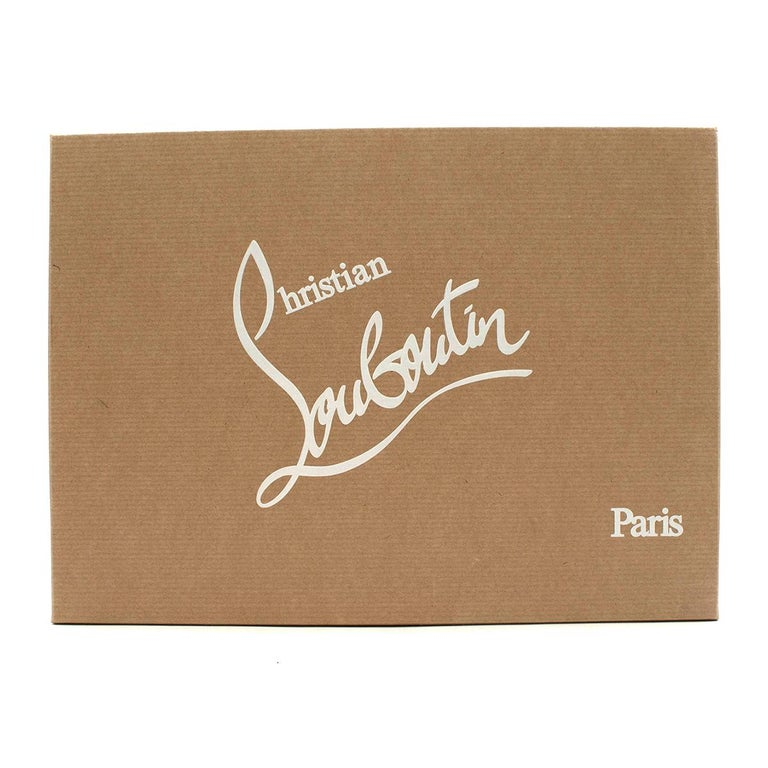 Christian Louboutin Lady Peep Spikes 145mm leather pumps US 8.5 For Sale 5