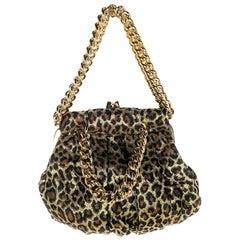 Christian Louboutin Leopard Print Frame Yoyo Clutch Bag