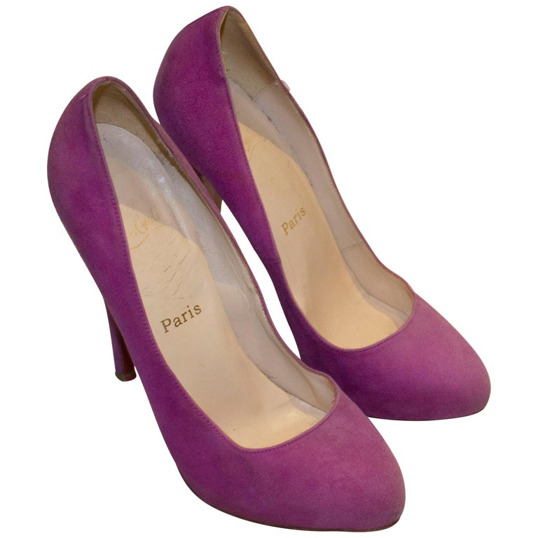 Christian Louboutin Lilac Suede Heels For Sale