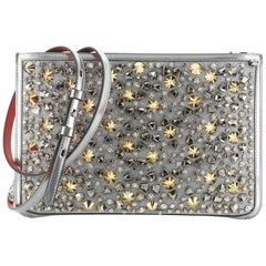 Christian Louboutin Loubiclutch Spiked Glitter PVC and Leather