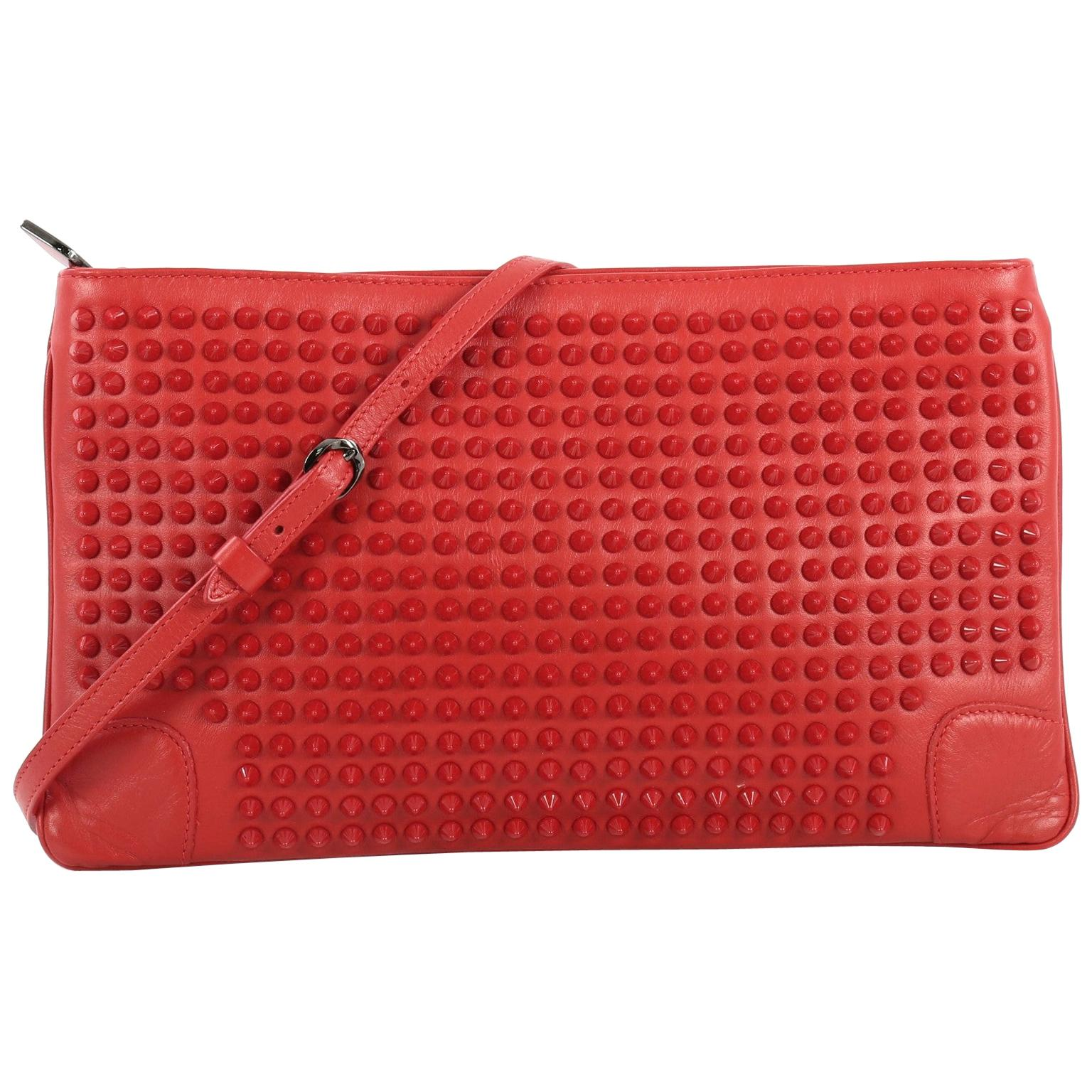 211957564b2 Christian Louboutin Red Boudoir Grained-leather Chain Wallet