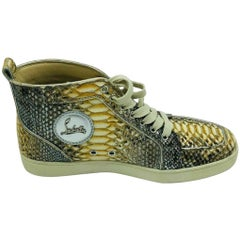 Christian Louboutin Louis Python Leather High Top Trainers/Sneakers - Size 40