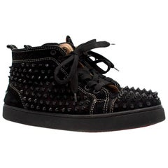 Christian Louboutin Louis Spike high-top suede trainers Size: 39