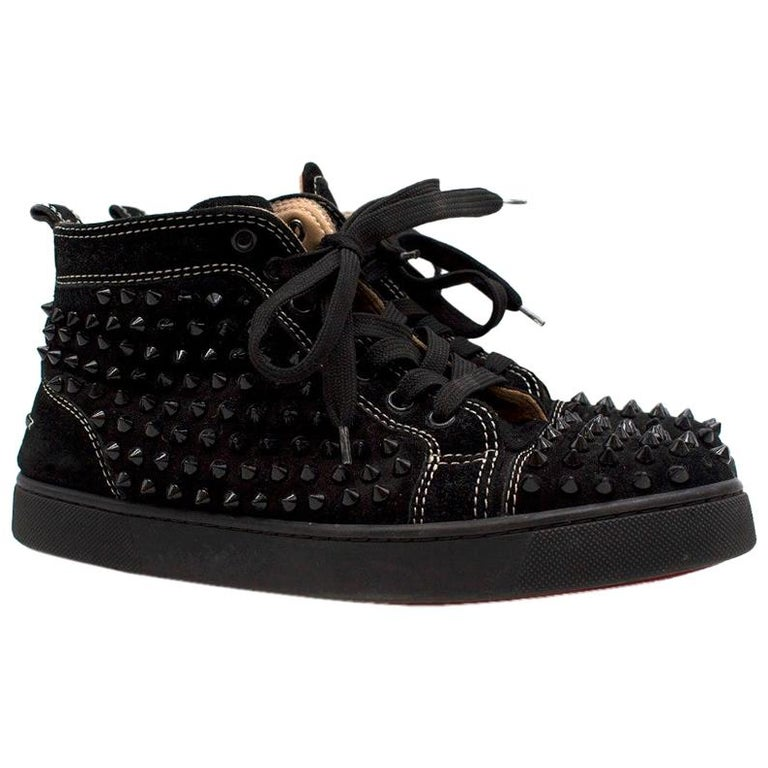 new concept f0f1e 1c9be Christian Louboutin Louis Spike high-top suede trainers Size: 39