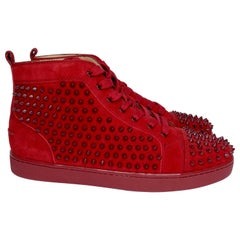 Christian Louboutin Louis Spikes Flat Sneakers