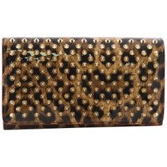 Christian Louboutin Macaron Wristlet Studded Leather
