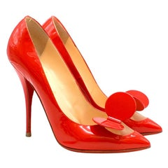 Christian Louboutin Madame Mouse patent-leather pumps 40