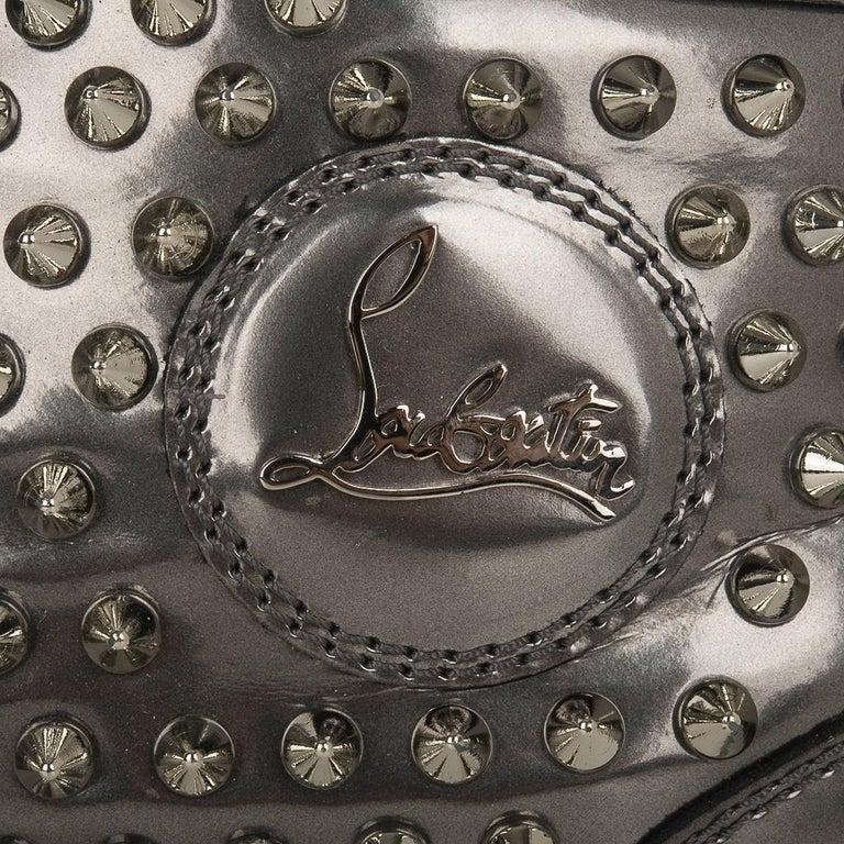 Gray  Christian Louboutin Men's Sneakers Louis Flat Antispecchio Spike 43 / 10  For Sale