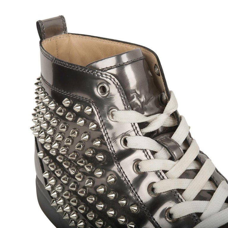 Christian Louboutin Men's Sneakers Louis Flat Antispecchio Spike 43 / 10  For Sale 1