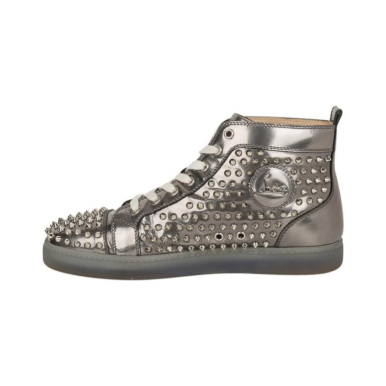 buy online ad9a7 7b4f2 Christian Louboutin Men's Sneakers Louis Flat Antispecchio Spike 43 / 10