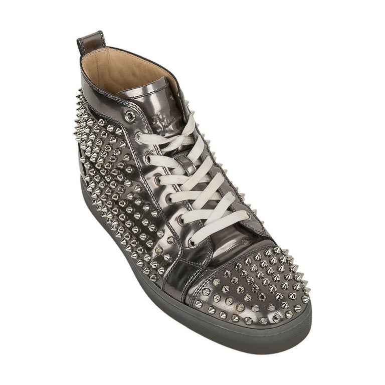 buy online 191ae b3050 Christian Louboutin Men's Sneakers Louis Flat Antispecchio Spike 43 / 10