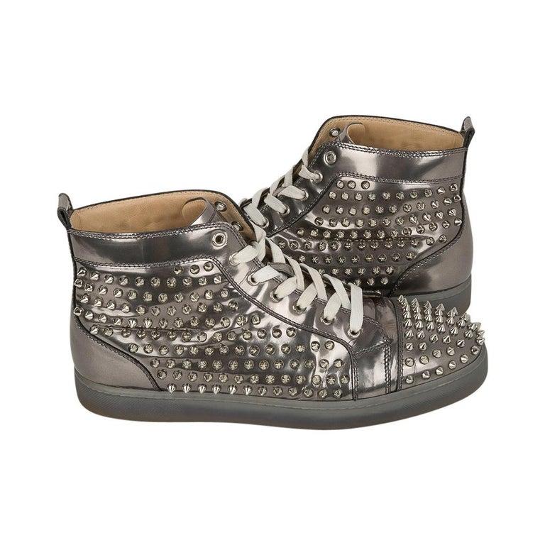 Christian Louboutin Men's Sneakers Louis Flat Antispecchio Spike 43 / 10  For Sale 4