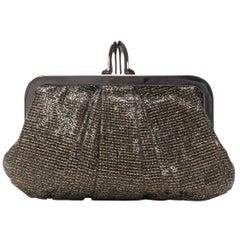CHRISTIAN LOUBOUTIN Mini Loubi Lula gold black glitter metal Pump lock chain bag