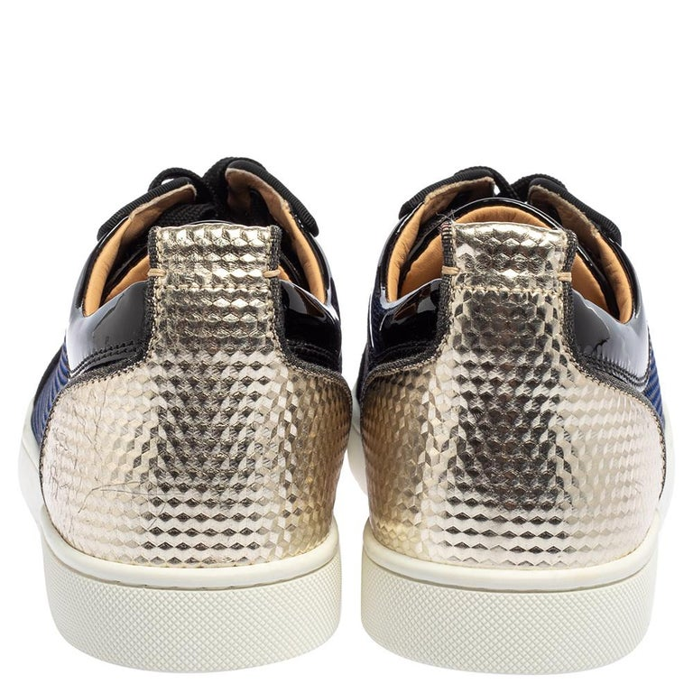 Christian Louboutin Multicolor And Leather Louis Junior Low Top Sneakers Size 42 In New Condition In Dubai, Al Qouz 2