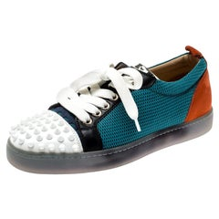 Christian Louboutin Multicolor Mesh And Leather AC Viera Spiked Orlato Size 35