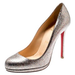 Christian Louboutin Multicolor Metallic Glitter New Simple Pumps Size 38