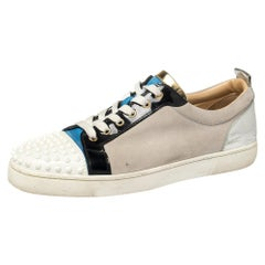 Christian Louboutin Multicolor Suede And Leather Spiked Orlato Sneakers Size 45
