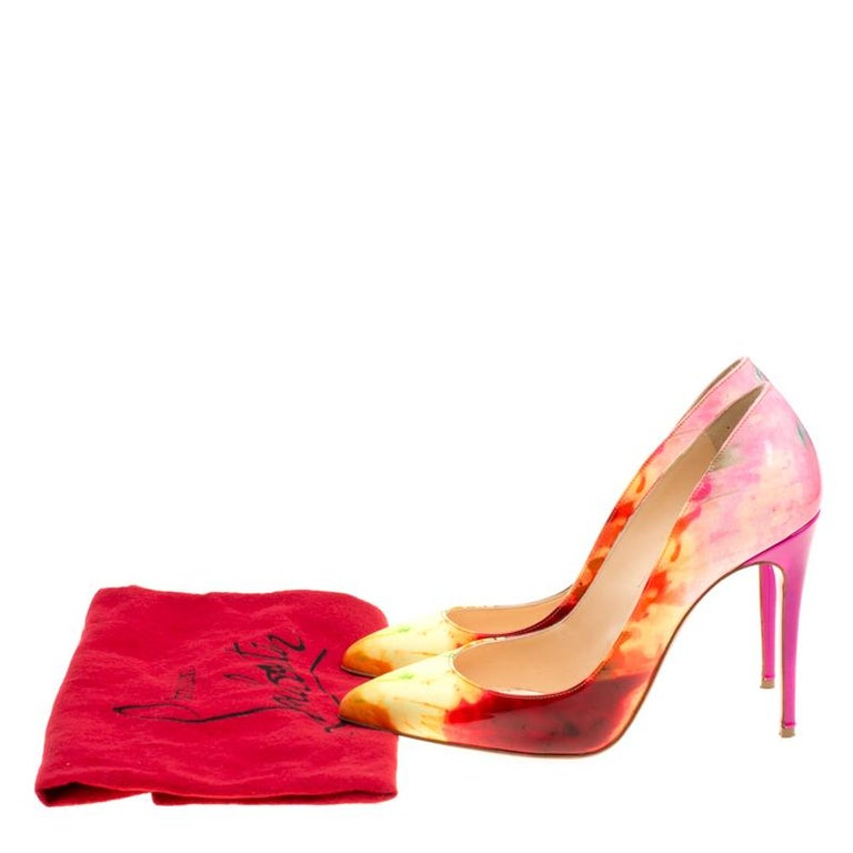 finest selection 36369 8e7f2 Christian Louboutin Multicolor Tie Dye Pigalle Pointed Toe Pumps Size 36.5