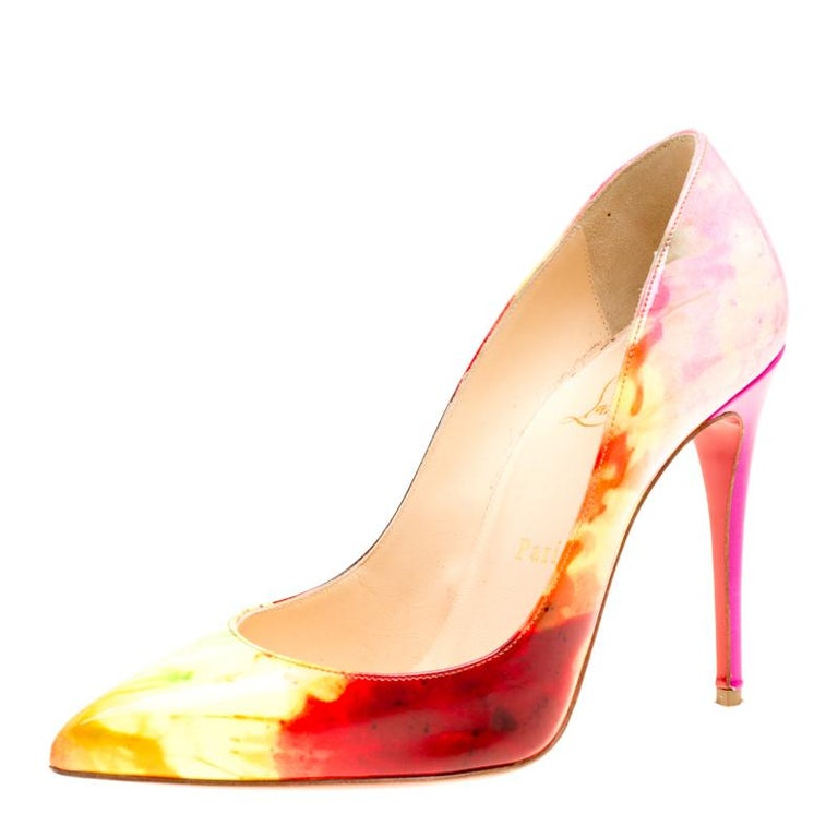 4bec59798fd6 Christian Louboutin Multicolor Tie Dye Pigalle Pointed Toe Pumps Size 36.5  For Sale