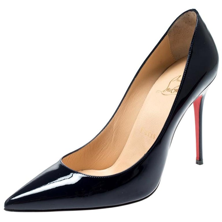 large discount fast delivery competitive price Christian Louboutin Navy Blue Pointed Toe Pumps Size 37