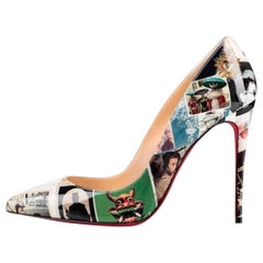 Christian Louboutin NEW Multi Color Patent Pigalle Evening Heels Pumps in Box