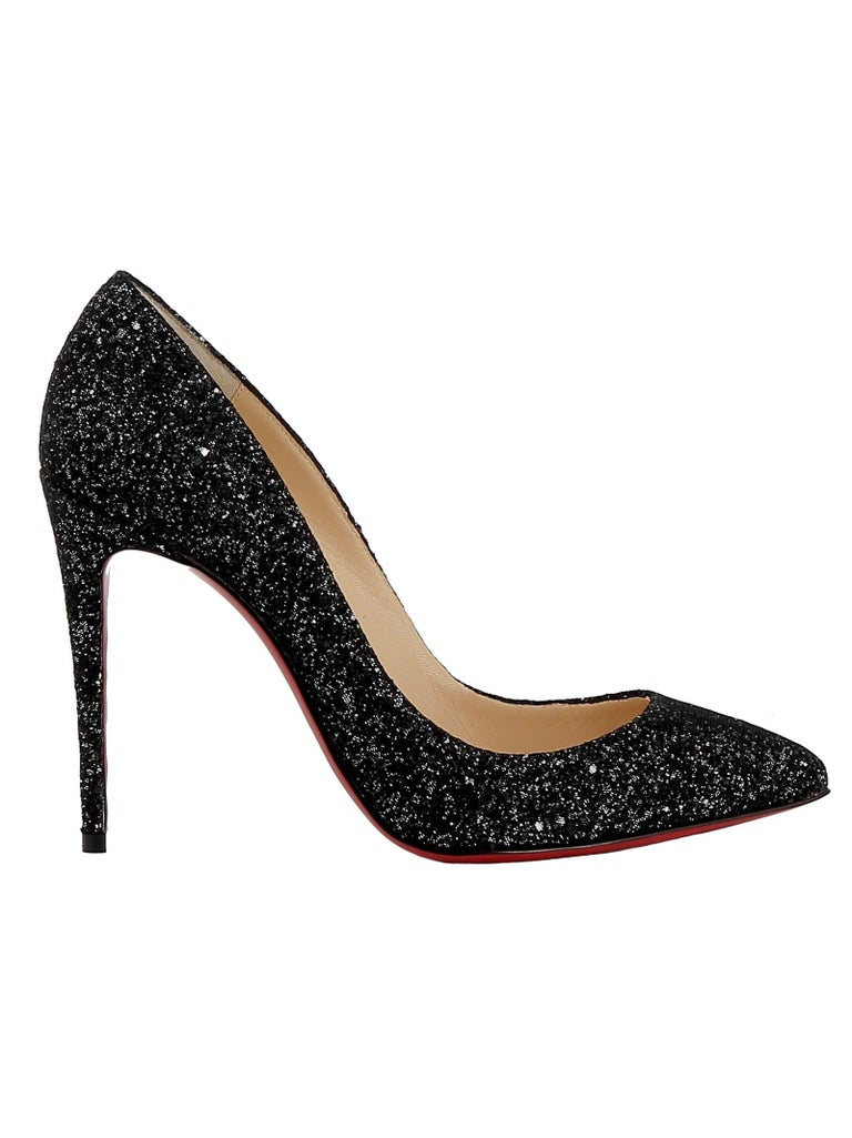 newest collection 6c945 67dce Christian Louboutin NEW Pigalle 100 Black Glitter High Heels Pumps in Box