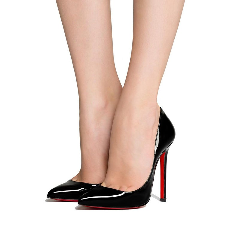 082dd79814d Women s Christian Louboutin NEW Pigalle 120 Black Patent Leather High Heels  Pumps in Box For Sale