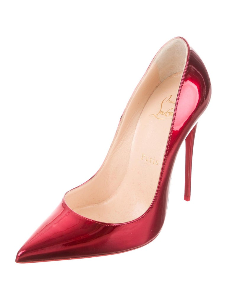 Christian Louboutin NEW Red Patent Leather Pumps Heels In New Condition In Chicago, IL
