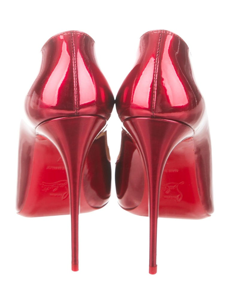 Women's Christian Louboutin NEW Red Patent Leather Pumps Heels