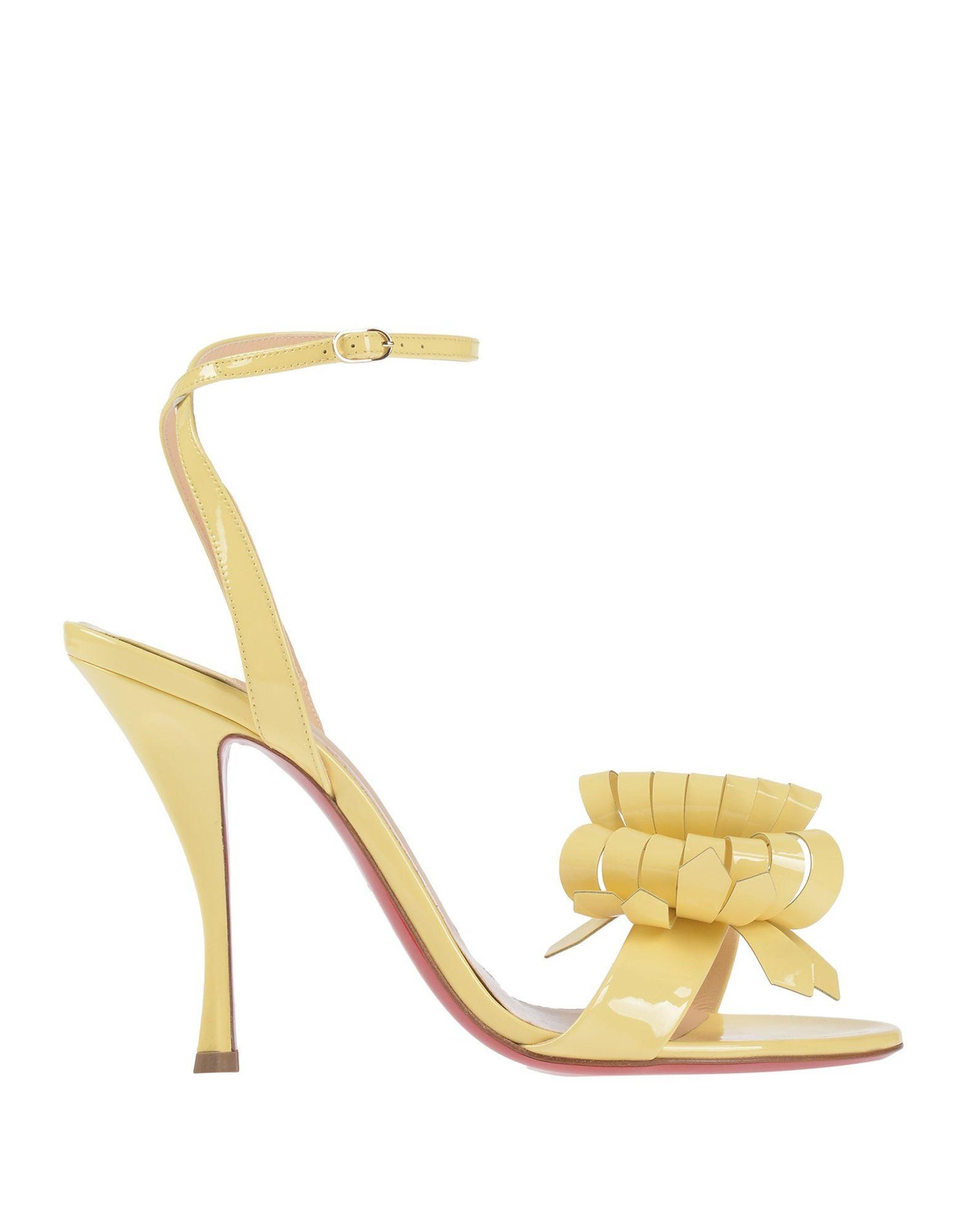 2be2d59565a Christian Louboutin NEW Yellow Patent Bow Evening Sandals Heels in Box