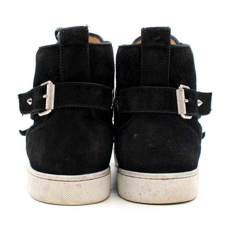 Black Christian Louboutin Nono Strap Veau Velours Sneakers SIZE UK 43 / US 9.5