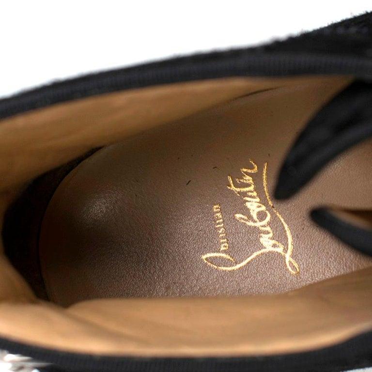 Women's or Men's Christian Louboutin Nono Strap Veau Velours Sneakers SIZE UK 43 / US 9.5