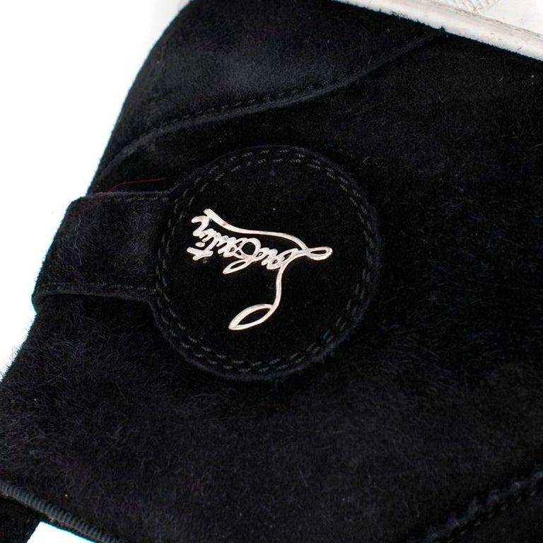 Christian Louboutin Nono Strap Veau Velours Sneakers SIZE UK 43 / US 9.5 1