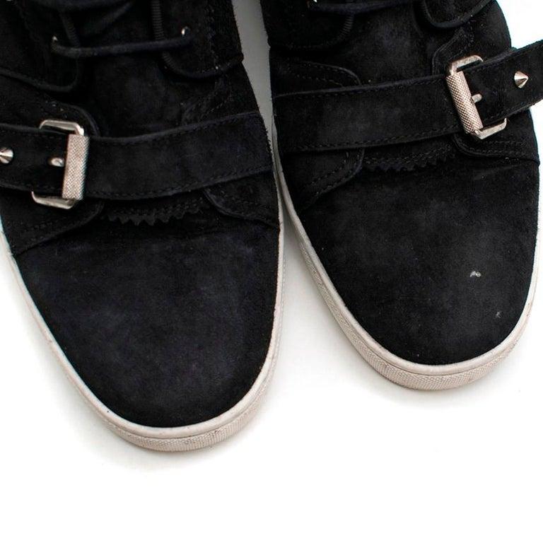 Christian Louboutin Nono Strap Veau Velours Sneakers SIZE UK 43 / US 9.5 4